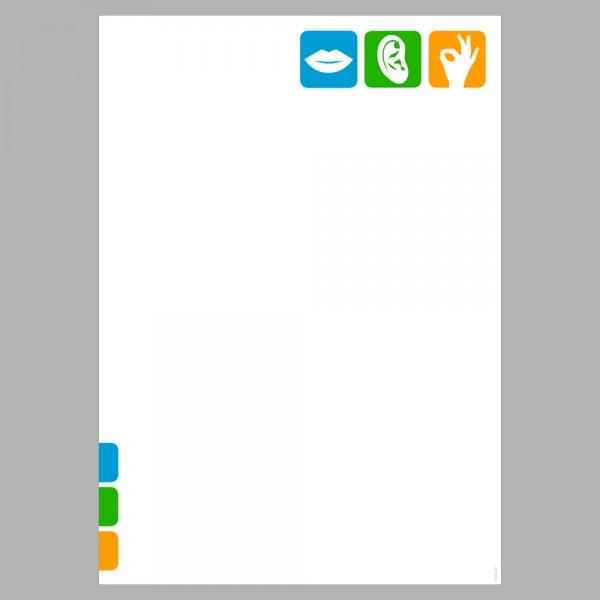 Briefpapier A4, Pikto Logo