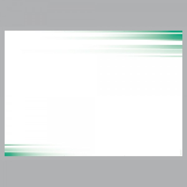 Flyer Farbspiel grün, A4 quer zum Falten, 100 g/m²