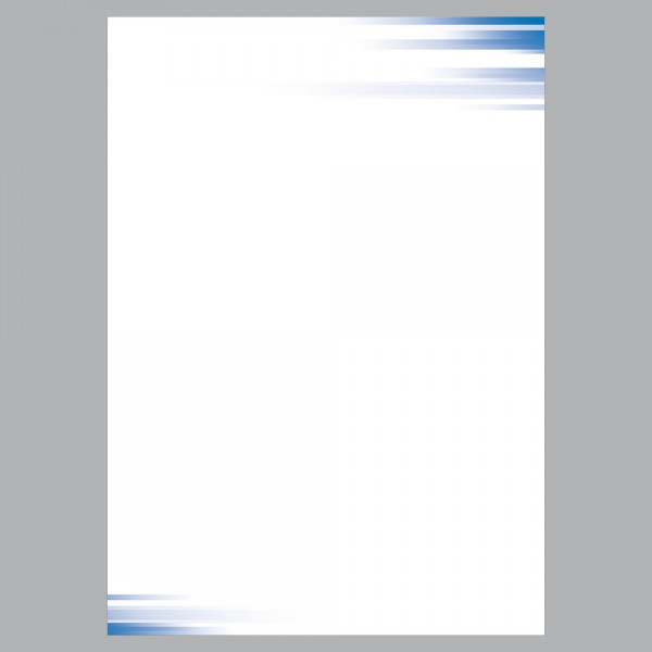 Briefpapier A4, Farbspiel blau