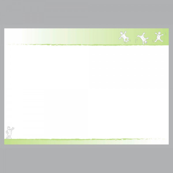Flyer Active grün, A4 quer zum Falten, 100 g/m²