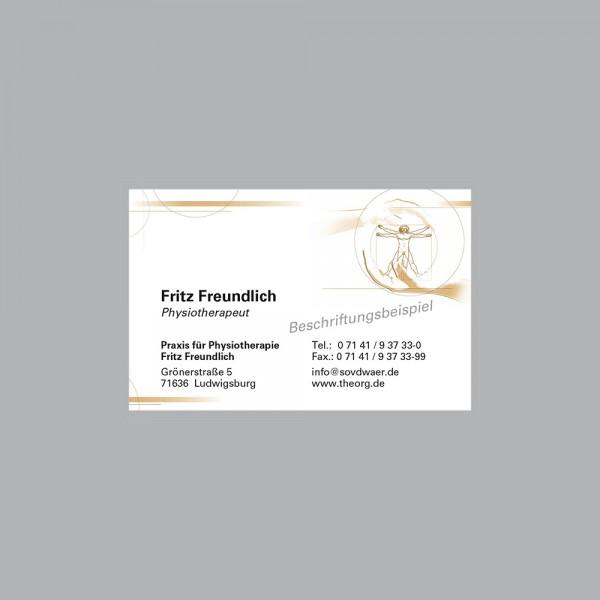 Visitenkarte Leonardo braun, 300 g/m², individueller Druck