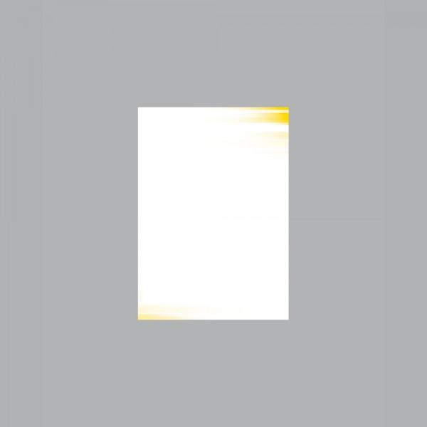 Zettel A6, Farbspiel gelb