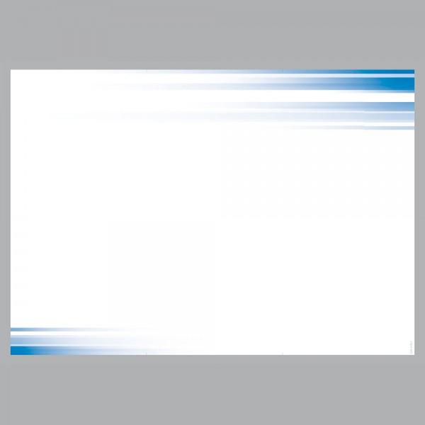 Flyer Farbspiel blau, A4 quer zum Falten, 100 g/m²