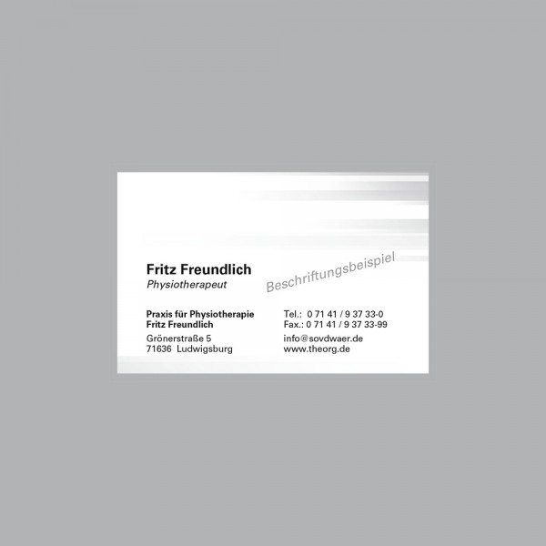 Visitenkarte Farbspiel grau, 300 g/m², inkl. individueller Druck