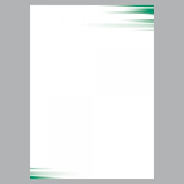 Briefpapier A4, Farbspiel grün