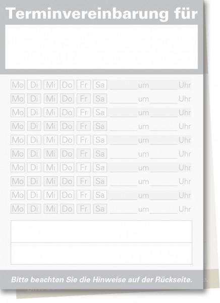 Durchschreibe-Terminzettel A7-Block, grau