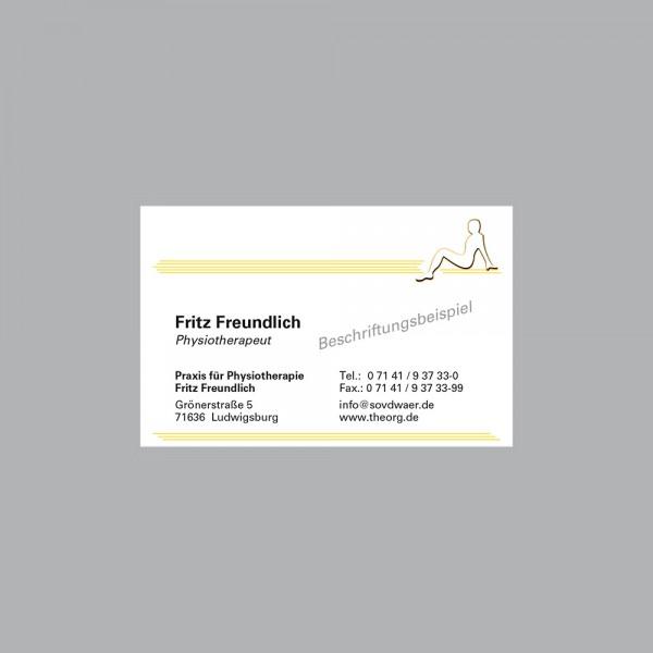 Visitenkarte Lady, 300 g/m², inkl. individueller Druck
