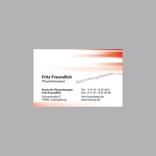 Visitenkarte Farbspiel rot, 1000 Stk., inkl. individueller Druck