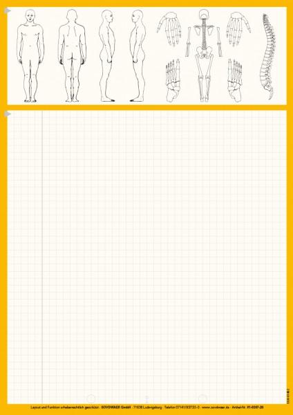 Karteiblätter DIN A4, Papier 80 g/m², gelb