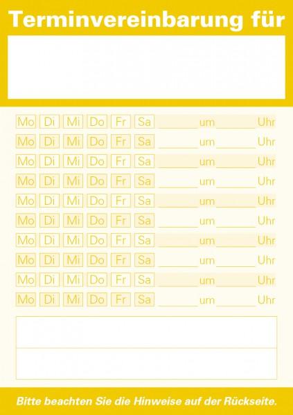 Terminzettel A7-Block, gelb