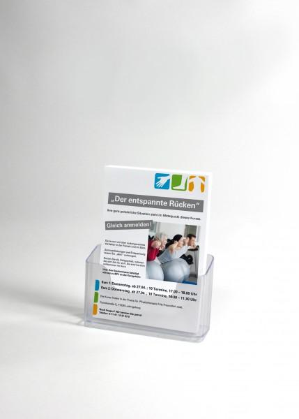 Magazin A5, ein Fach, aus klarem Kunststoff