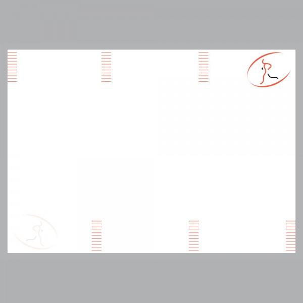Flyer Läufer, A4 quer zum Falten, 100 g/m²