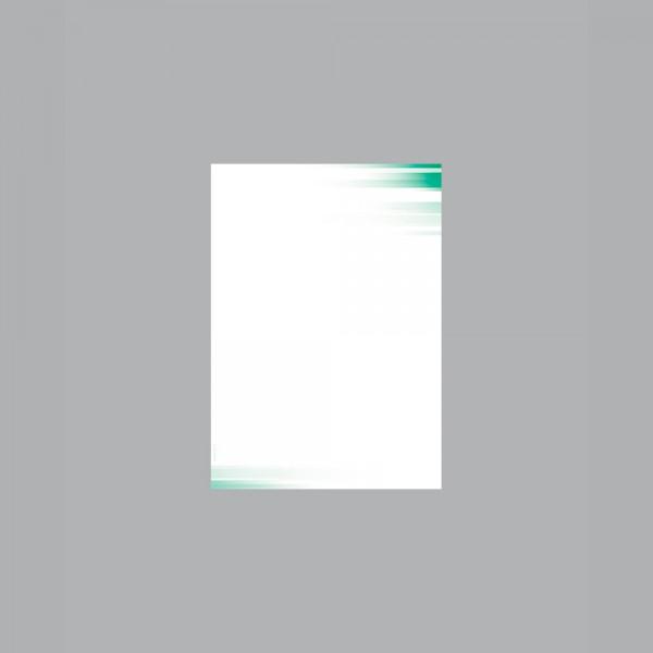 Zettel A6, Farbspiel grün