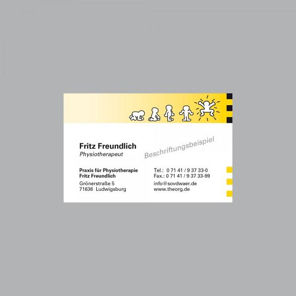 Visitenkarte Jump, 300 g/m², inkl. individueller Druck