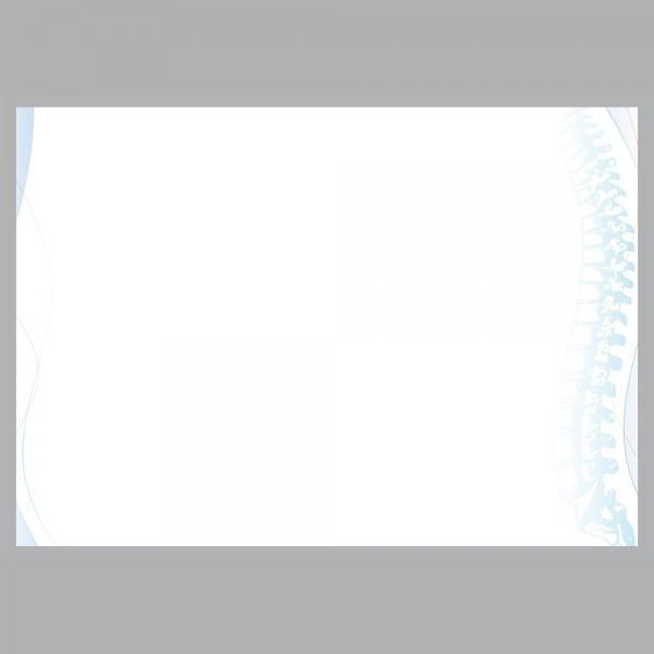 Flyer Wirbelsäule, A4 quer zum Falten, 100 g/m²