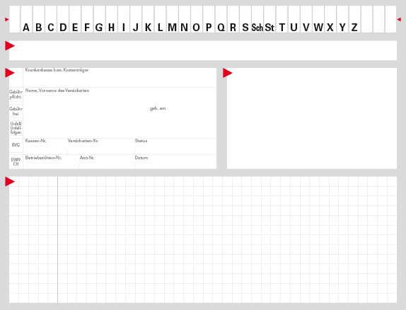 Karteikarte Typ II, Karton 190 g/m², grau