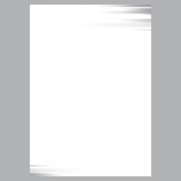 Briefpapier A4, Farbspiel grau