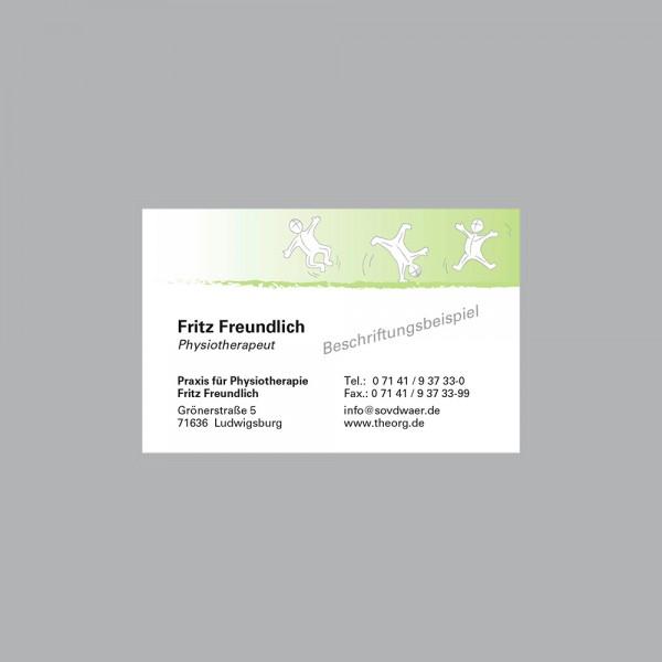 Visitenkarte Active grün, 300 g/m², inkl. individueller Druck