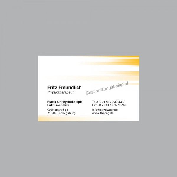 Visitenkarte Farbspiel gelb, 250 Stk., inkl. individueller Druck
