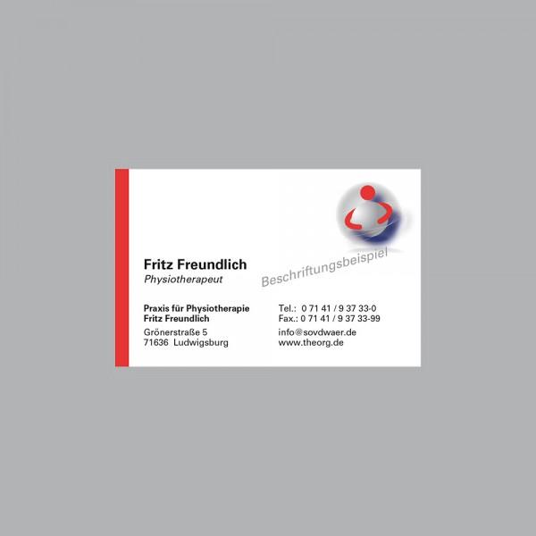 Visitenkarte Ball im Arm, 300 g/m², inkl. individueller Druck