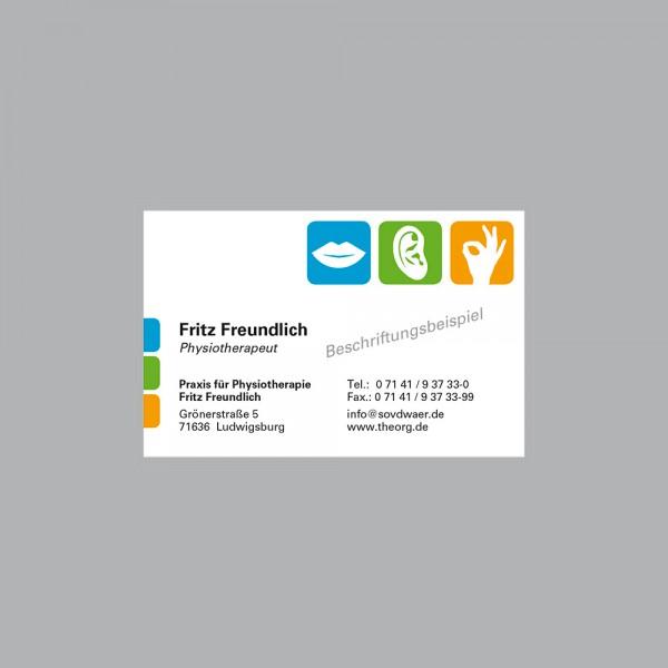 Visitenkarte Pikto Logo, 250 Stk., inkl. individueller Druck