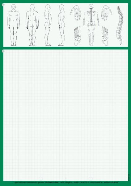 Karteiblätter DIN A4, Papier 80 g/m², grün
