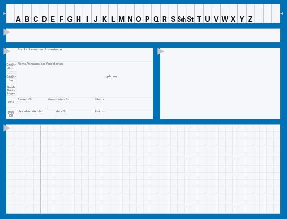 Karteikarte Typ II, Karton 190 g/m², blau
