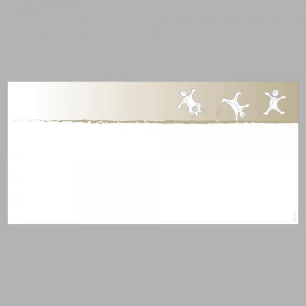 Gutscheine Active braun, DIN lang, 170 g/m²