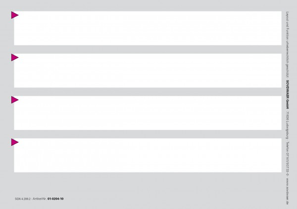 Ergänzungskarte Typ I, A5, Karton 190 g/m², grau