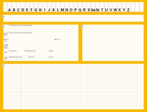 Karteikarte Typ II, Karton 190 g/m², gelb