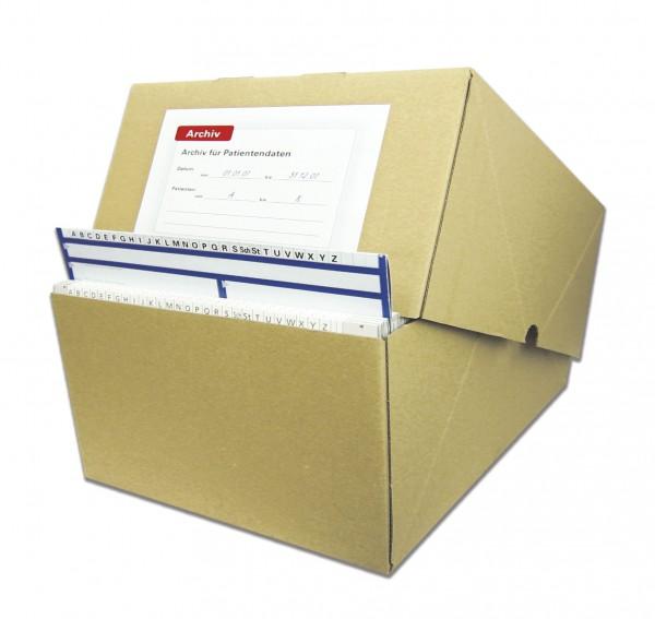 Karteikarten-Archivbox Karton, A5, 31,5 cm tief
