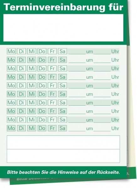 Durchschreibe-Terminzettel A7-Block, grün