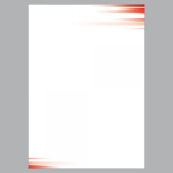 Briefpapier A4, Farbspiel rot