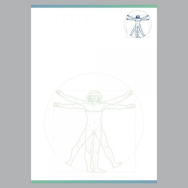 Briefpapier A4, Leonardo blau