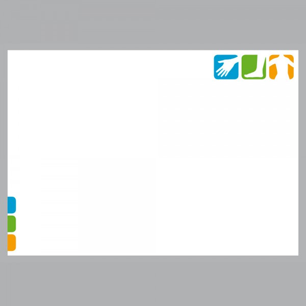 Flyer Pikto Physio, A4 quer zum Falten, 100 g/m²