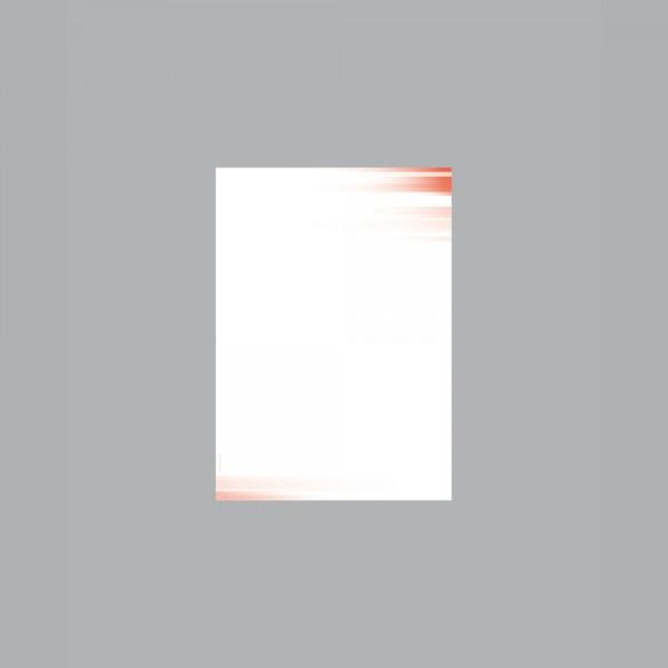Zettel A6, Farbspiel rot