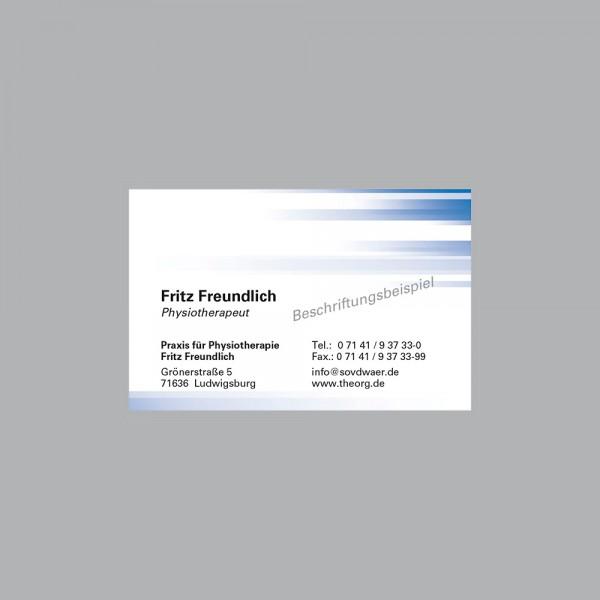 Visitenkarte Farbspiel blau, 250 Stk., inkl. individueller Druck