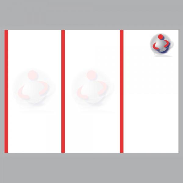 Flyer Ball im Arm, A4 quer zum Falten, 100 g/m²