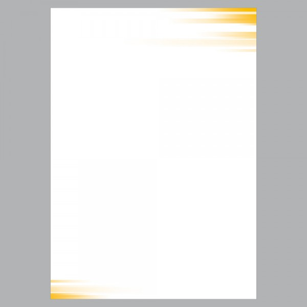 Briefpapier A4, Farbspiel gelb