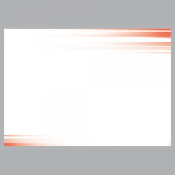 Flyer Farbspiel rot, A4 quer zum Falten, 100 g/m²