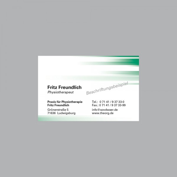 Visitenkarte Farbspiel grün, 1000 Stk., inkl. individueller Druck