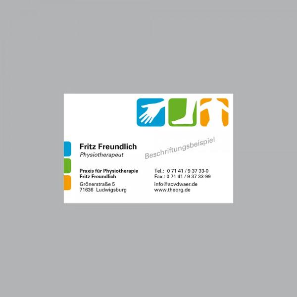 Visitenkarte Pikto Physio, 300 g/m², inkl. individueller Druck