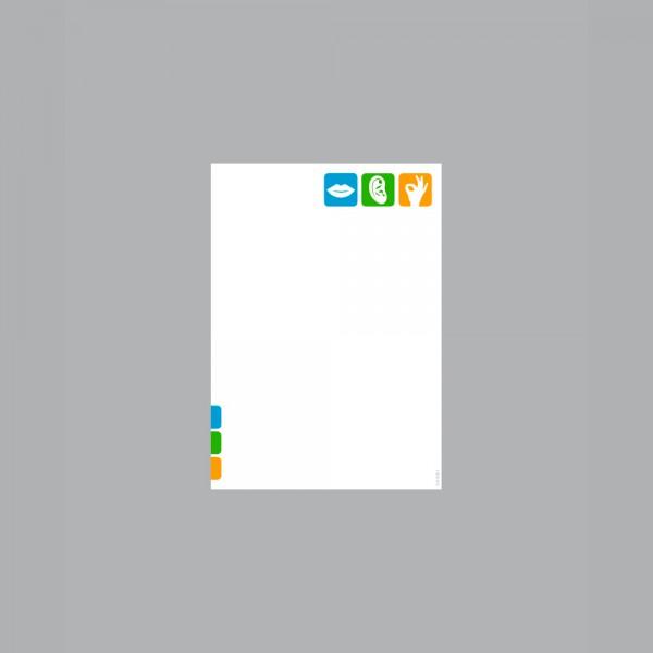 Zettel A6, Pikto Logo
