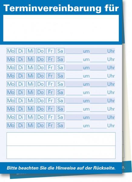 Durchschreibe-Terminzettel A7-Block, blau
