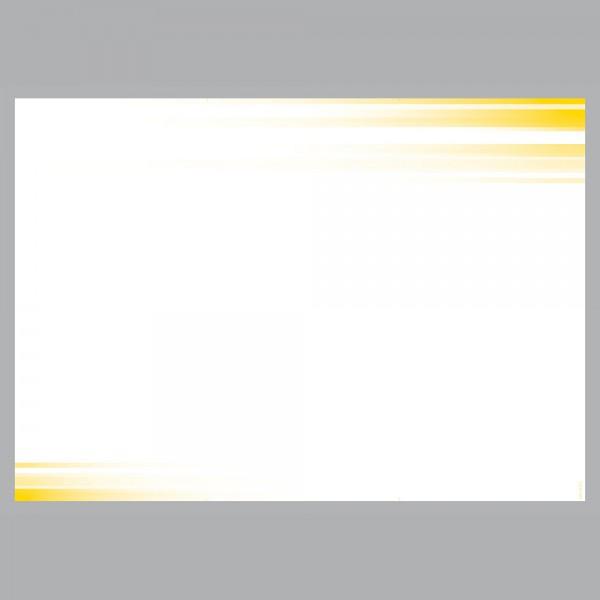 Flyer Farbspiel gelb, A4 quer zum Falten, 100 g/m²