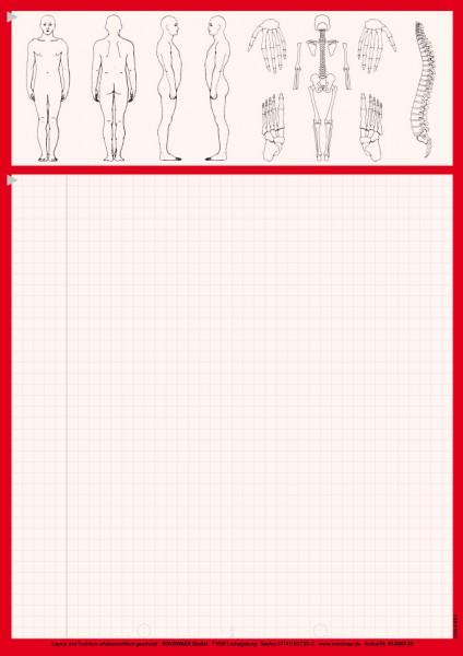 Karteiblätter DIN A4, Papier 80 g/m², rot