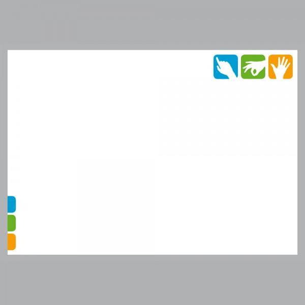 Flyer Pikto Ergo, A4 quer zum Falten, 100 g/m²