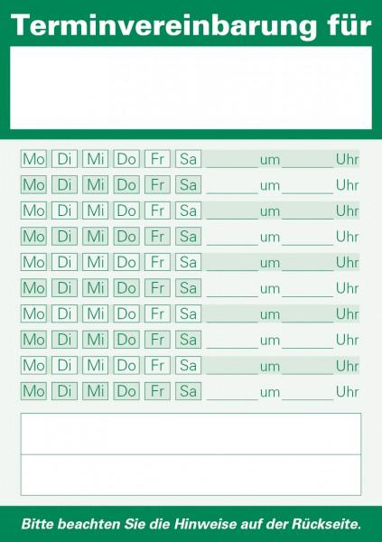 Terminzettel A7-Block, grün