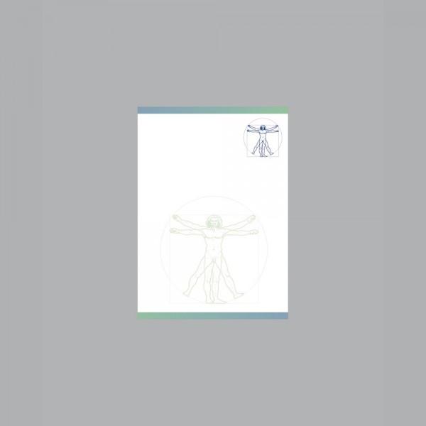 Zettel A6, Leonardo blau