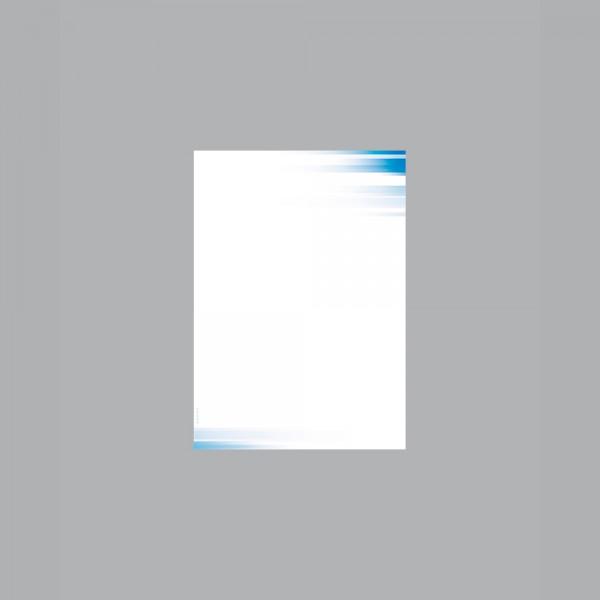 Zettel A6, Farbspiel blau